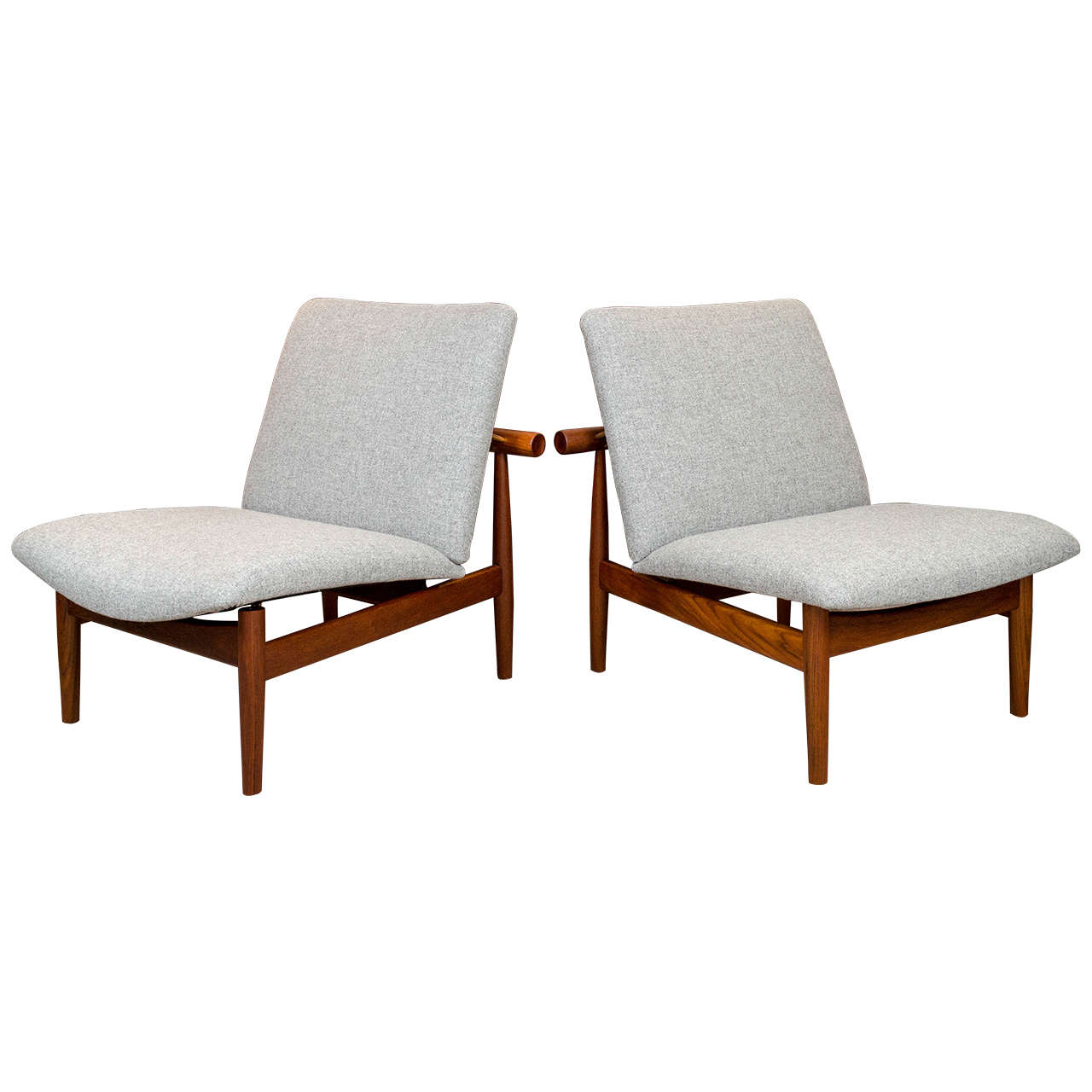 Finn Juhl Japan Chairs By France And Sons Denmark At 1stdibs