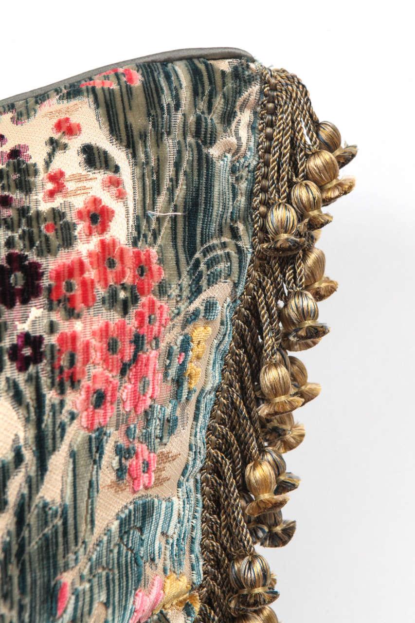 Contemporary Pair of Luigi Bevilacqua Italian Silk Velvet Pillows For Sale