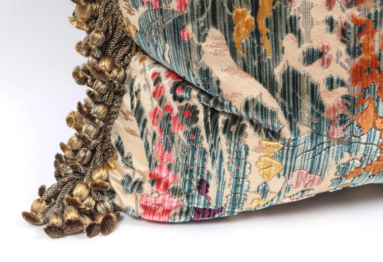 Pair of Luigi Bevilacqua Italian Silk Velvet Pillows For Sale 1