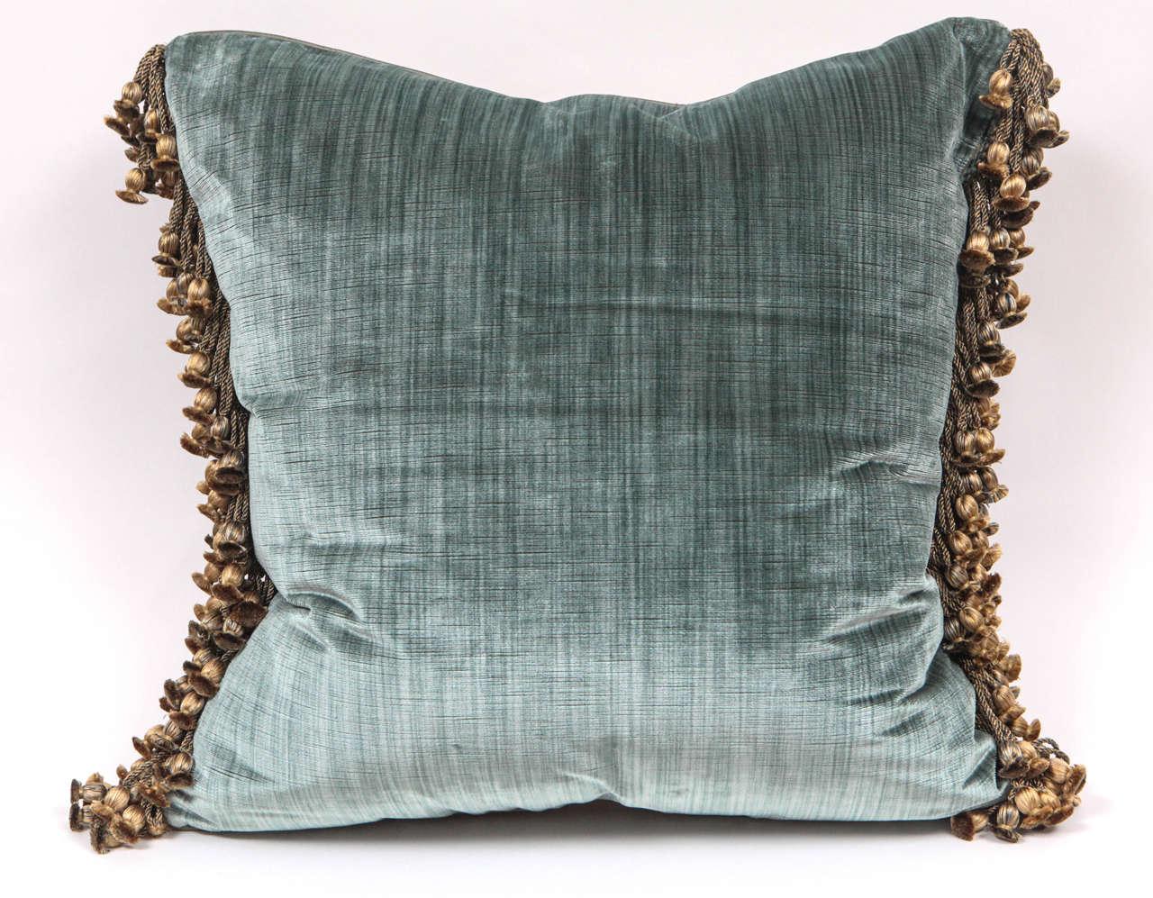 Pair of Luigi Bevilacqua Italian Silk Velvet Pillows For Sale 2
