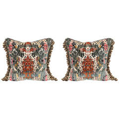 Pair of Luigi Bevilacqua Italian Silk Velvet Pillows