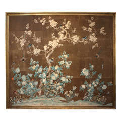 Early 19th Century Chinese Hand-Painted Wallpaper Panels