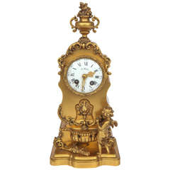 Late 19th Century French Doré Bronze Clock