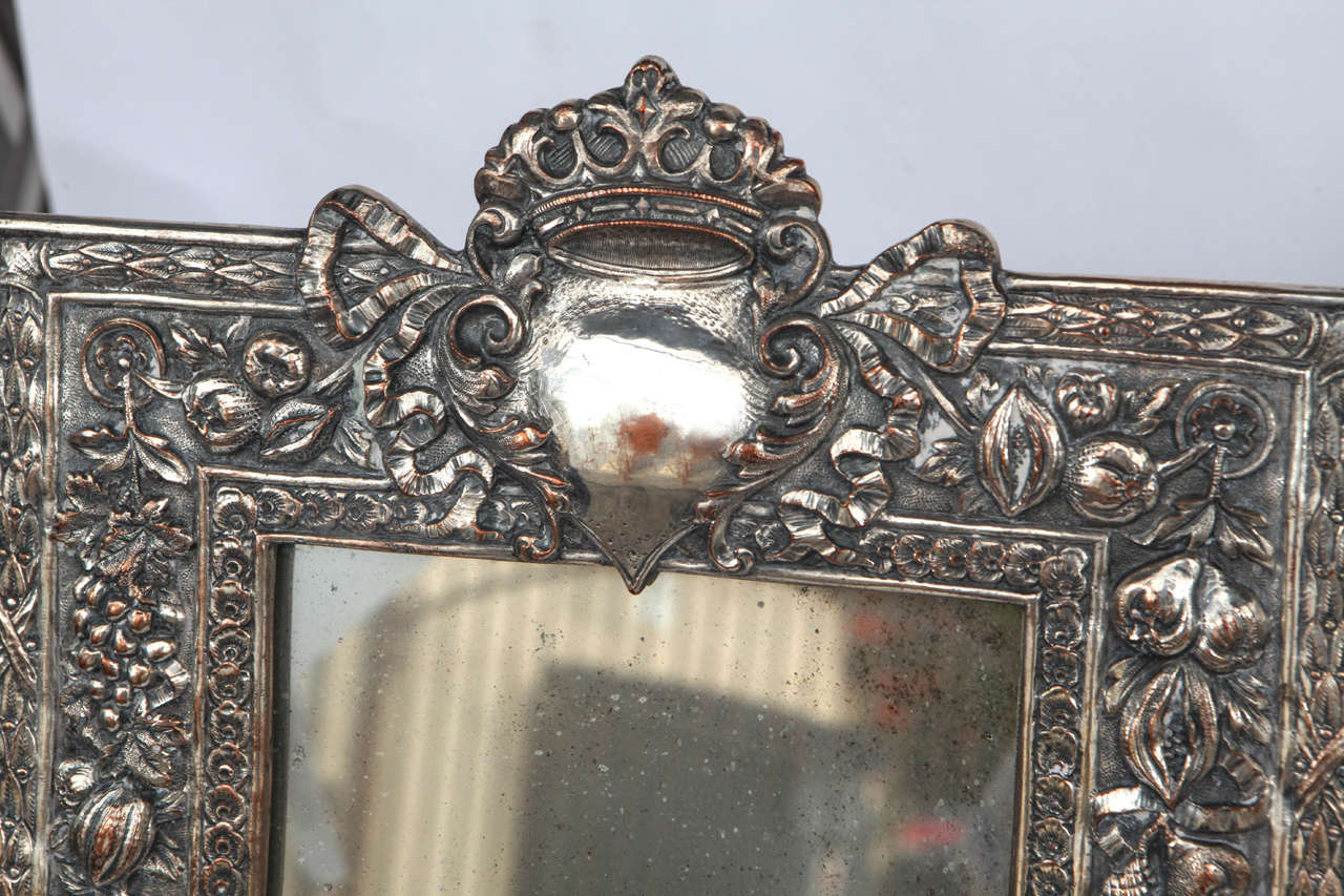 Pair of Late 19th Century English Silver Mirrors In Excellent Condition For Sale In Los Angeles, CA