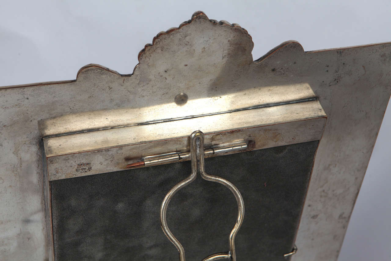 Pair of Late 19th Century English Silver Mirrors For Sale 4