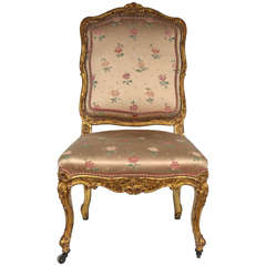 Single 19th Century French Giltwood Chair