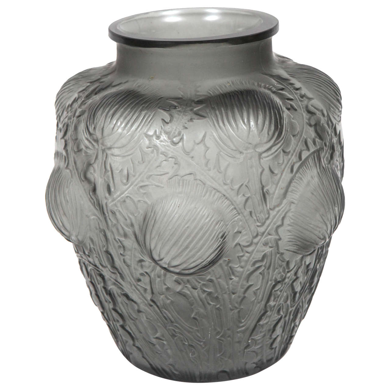 Rene lalique glass vase at 1stdibs for Lalique vase