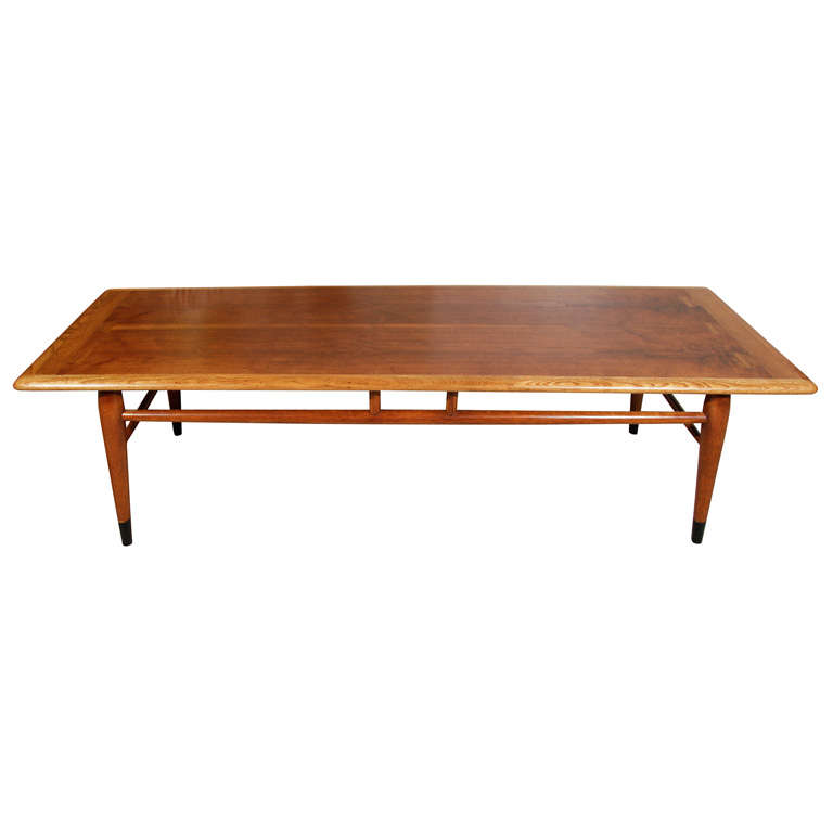 mid century coffee table by lane at 1stdibs. Black Bedroom Furniture Sets. Home Design Ideas
