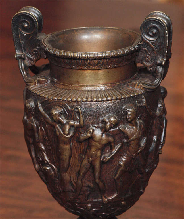 Pair Of Grand Tour Bronze Vases For Sale 2