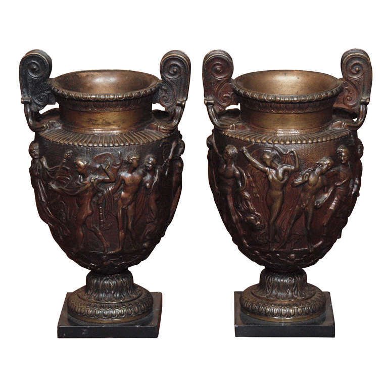 Pair Of Grand Tour Bronze Vases For Sale At 1stdibs