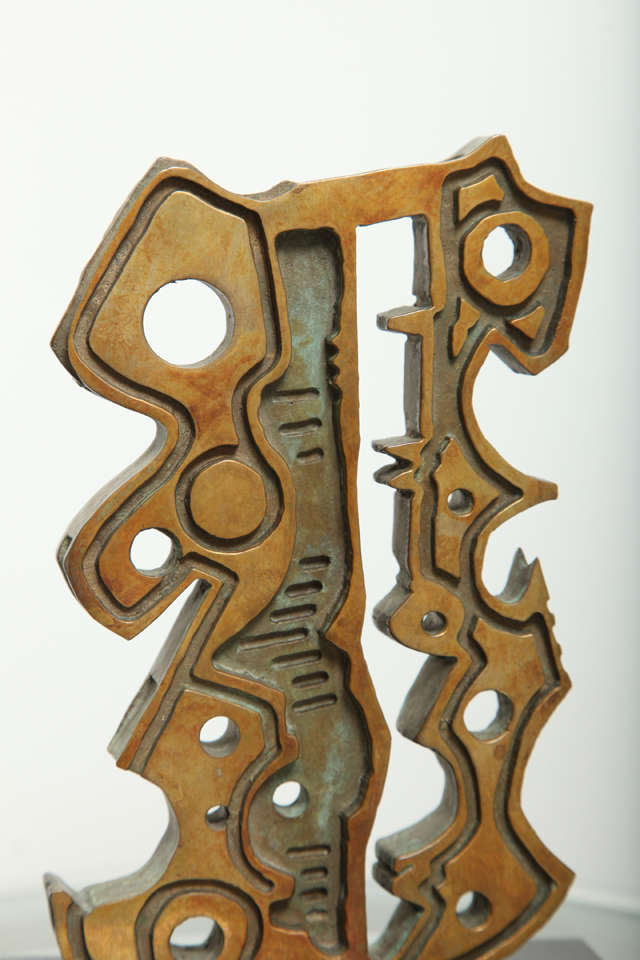 "20th Century Anthony Quinn ""Turkish Dancer"" Bronze Maquette, 1991 For Sale"