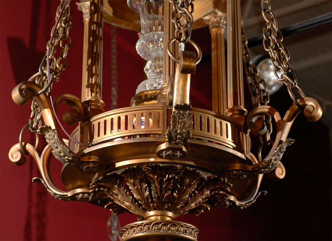 Antique Chandelier. Lantern Chandelier, circa 1900 For Sale 3 - Antique Chandelier. Lantern Chandelier, Circa 1900 At 1stdibs