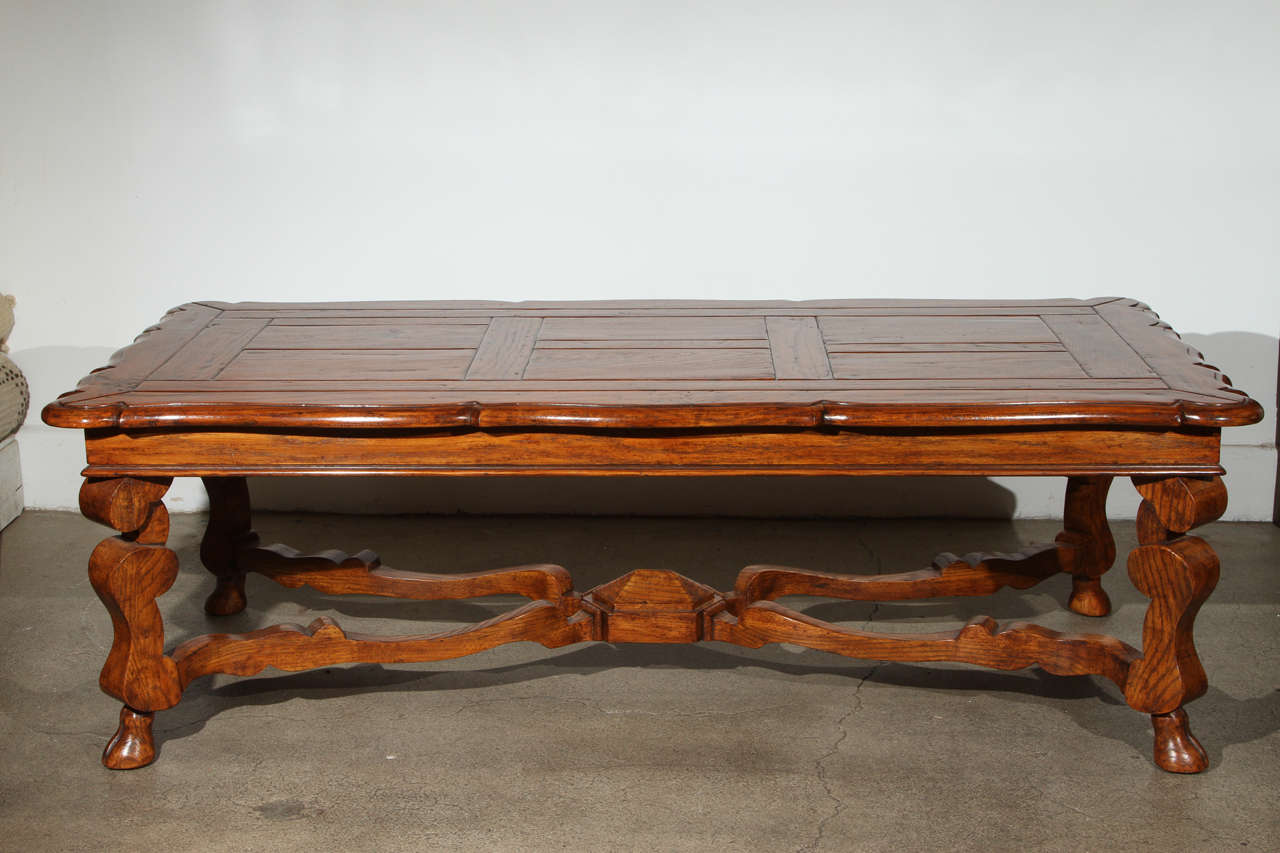 French provencial handcrafted wooden coffee table at 1stdibs Handcrafted coffee table