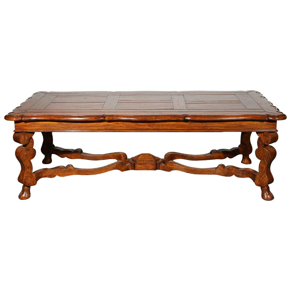 French Provencial Handcrafted Wooden Coffee Table At 1stdibs
