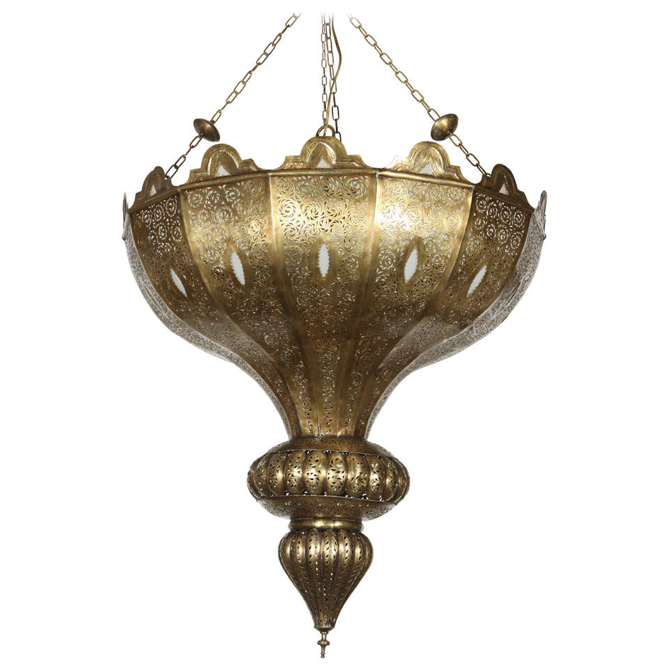 Brass moroccan chandelier in alberto pinto style for sale at 1stdibs - Moorish chandelier ...