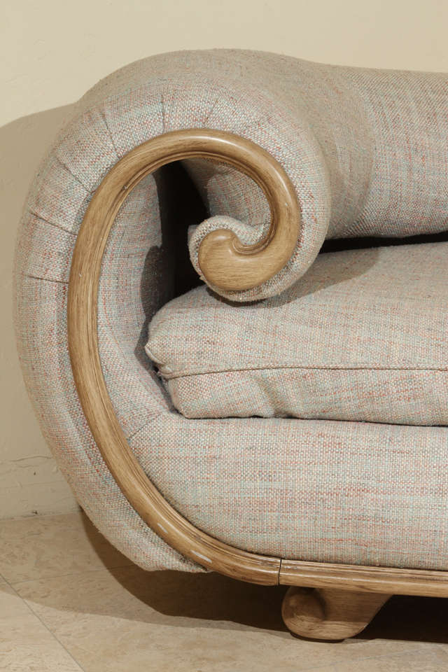 Fabulous custom chaise by steve chase at 1stdibs for Chaise de calvin