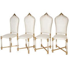 Fabulous Set of Lucite chairs by Antonio Pavia