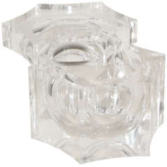 Large Hexagonal Lucite Ice bucket
