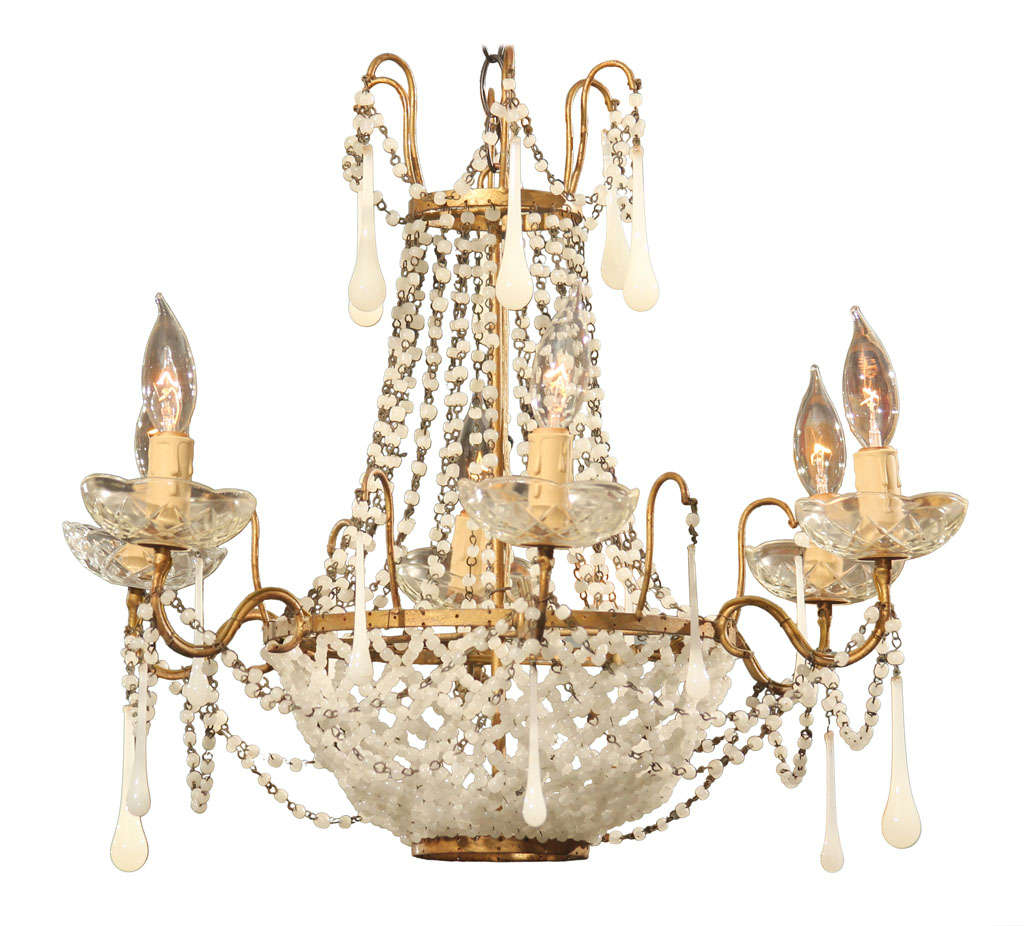 Italian glass bead chandelier at 1stdibs - Chandelier glass beads ...