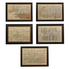 3 assorted 19th century French maps
