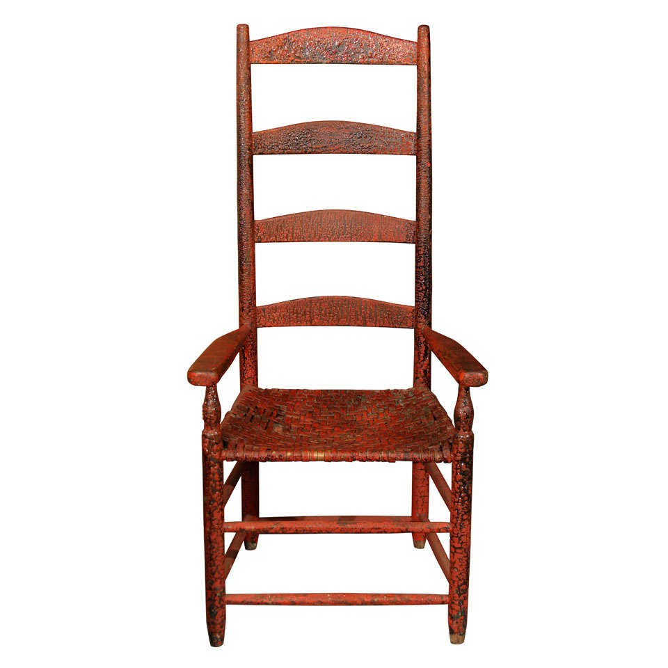 Red ladder back chair at 1stdibs Ladder back chairs