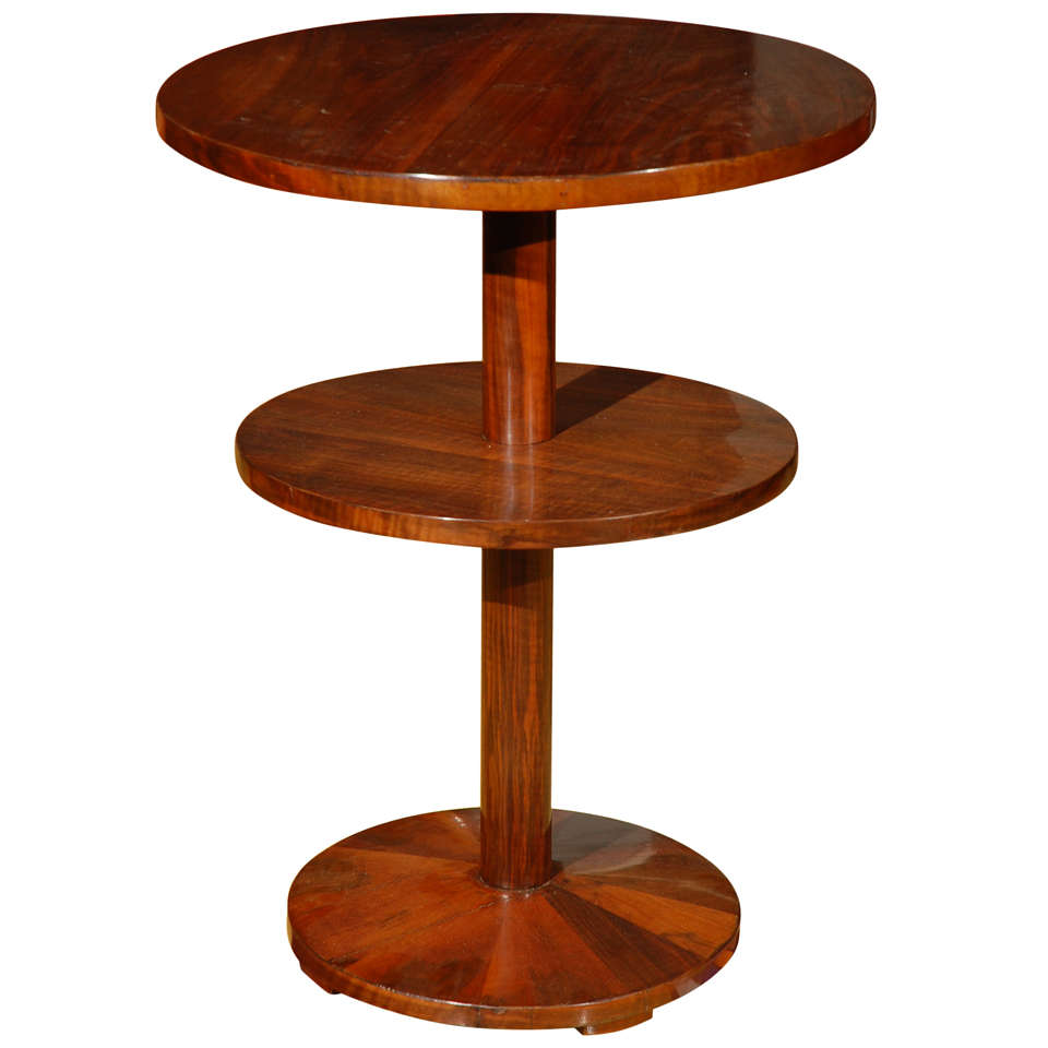 Hungarian art deco multi layered side table at 1stdibs for Deco table multicolore
