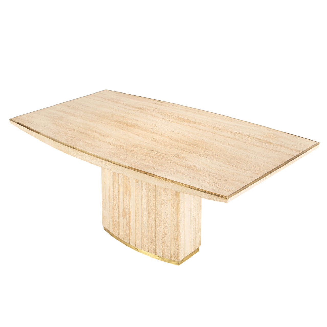 Willy rizzo table in travertine at 1stdibs for Table willy rizzo