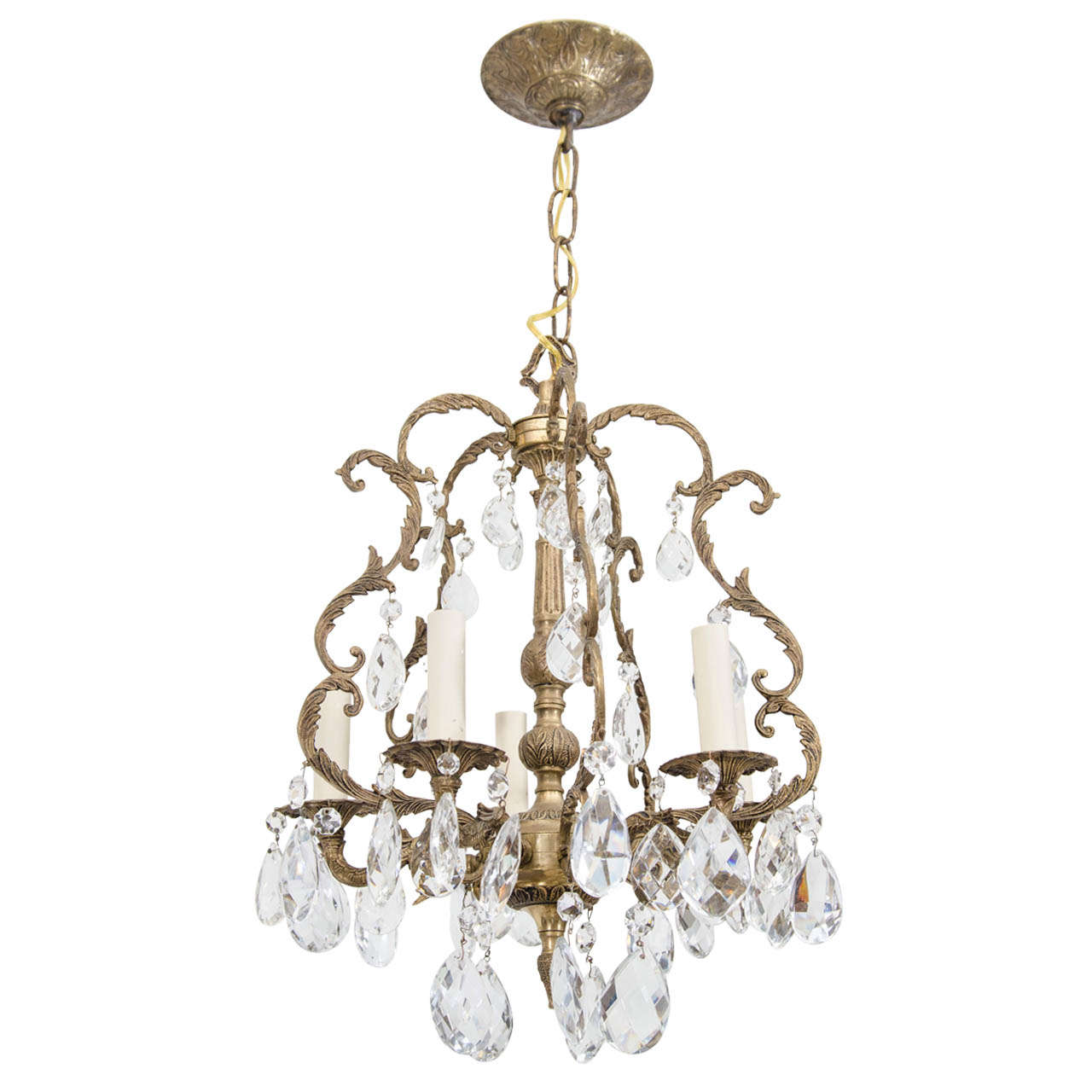 Louis XVI Style Cage Frame Chandelier at 1stdibs
