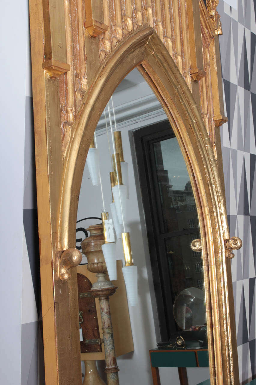 Pair of Pugin Gothic Giltwood Mirrors ~9 feet tall For Sale 3