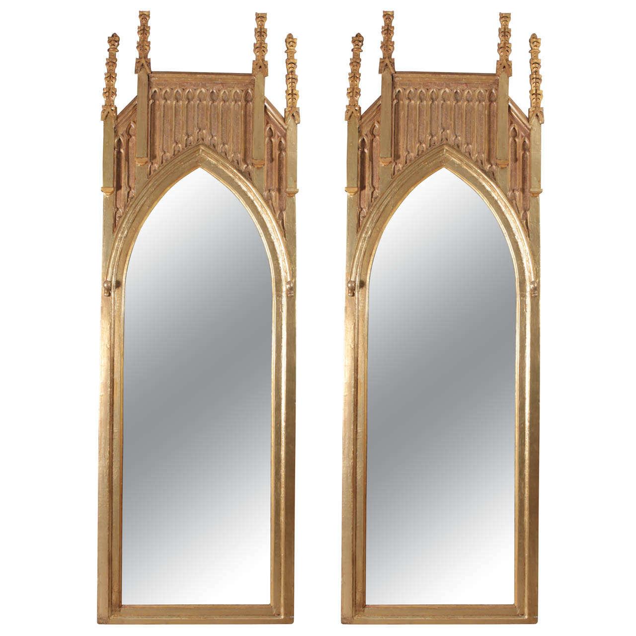 Pair of gothic revival giltwood mirrors for sale at 1stdibs for Floor length mirror for sale