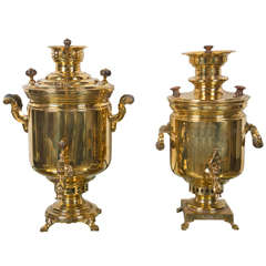 A Compatable Pair of Russian Samovars
