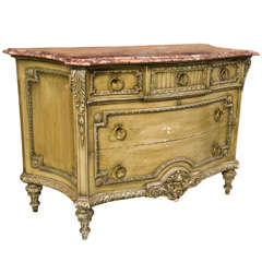 French Louis XVI Style Painted Commode