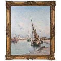 French  Harbor Scene Charles LaPostolet