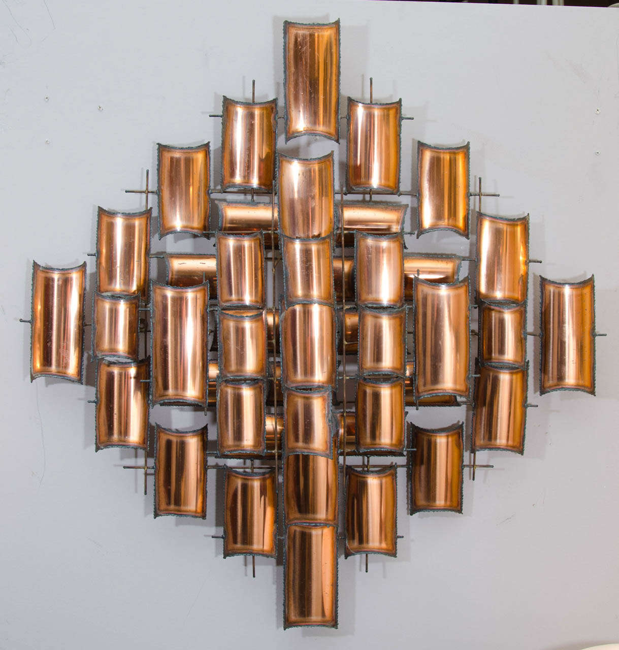 Wall Art Sculpture torch cut copper wall art sculpture for sale at 1stdibs
