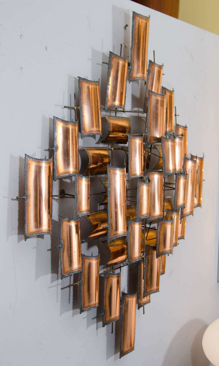 Torch cut copper wall art sculpture image 5 for Copper wall art