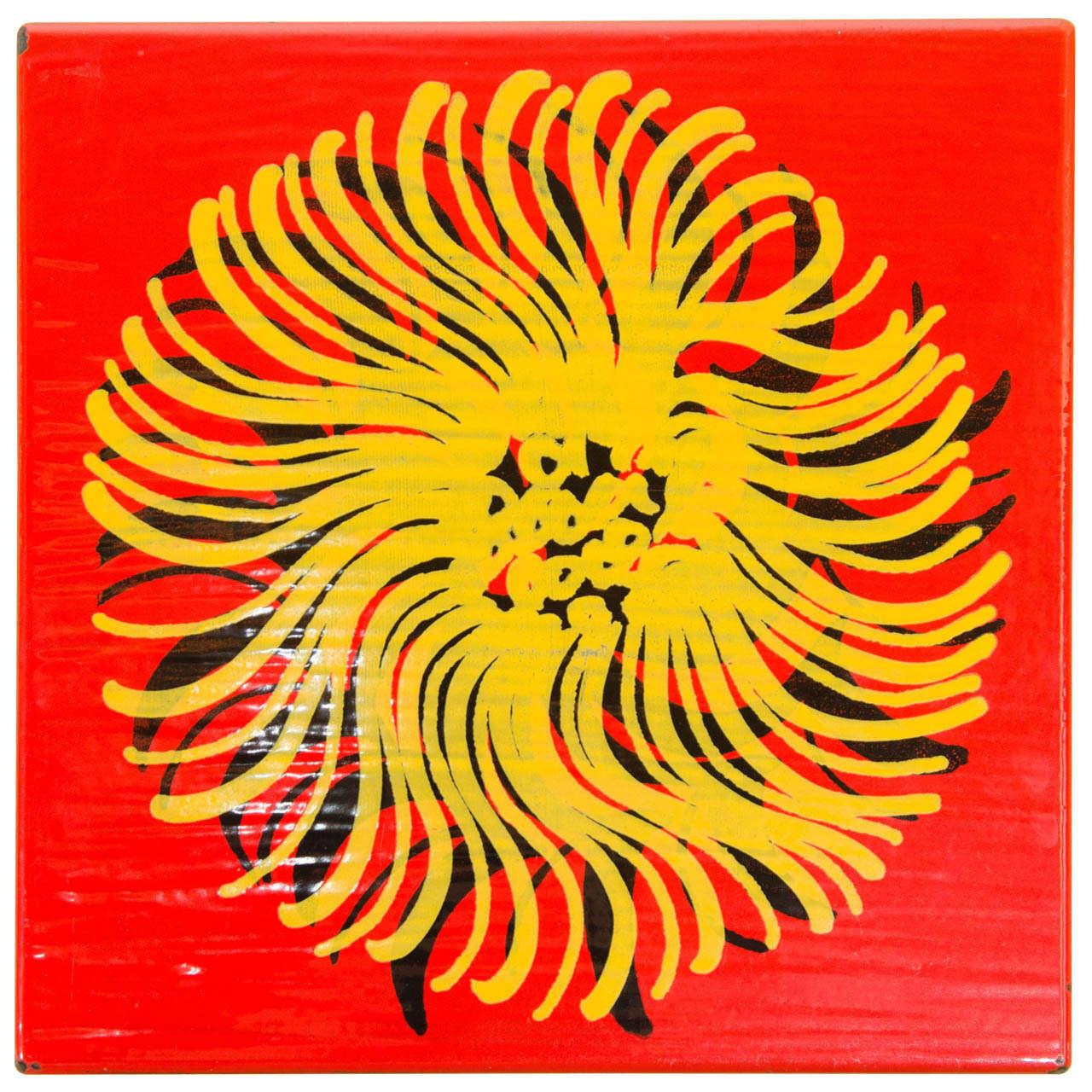 Chaim Gross Enamel \'Peace\' Art For Sale at 1stdibs