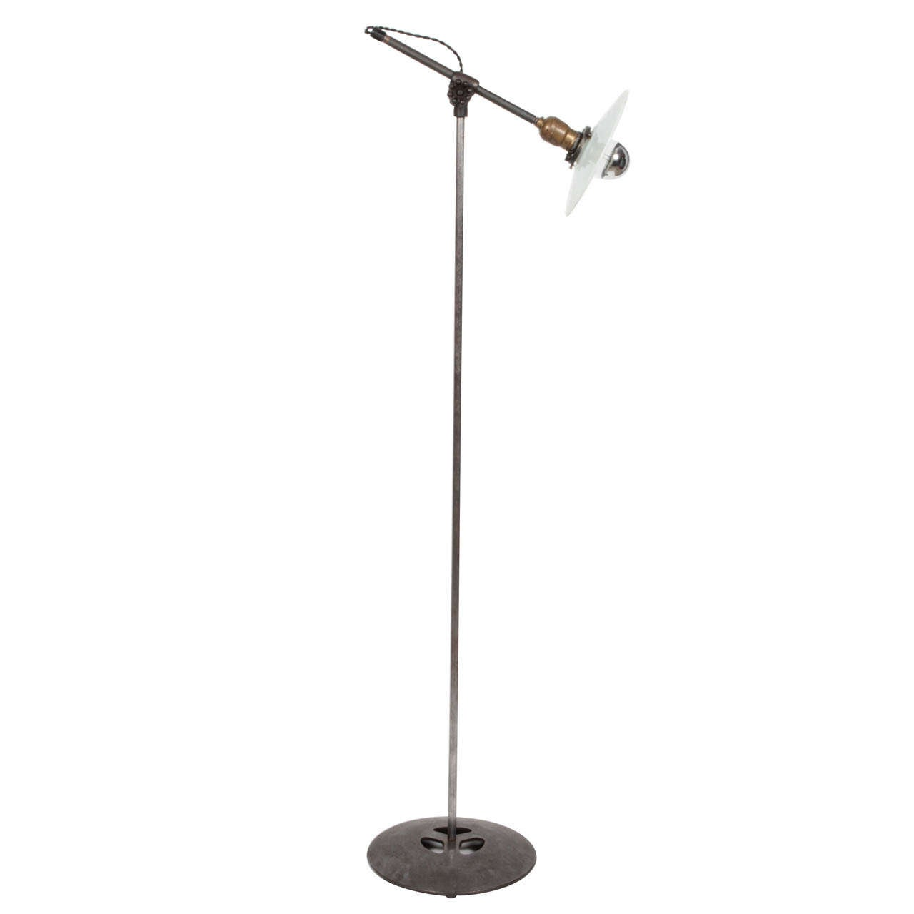 Antique Industrial Floor Lamp By O.C. White For Sale At