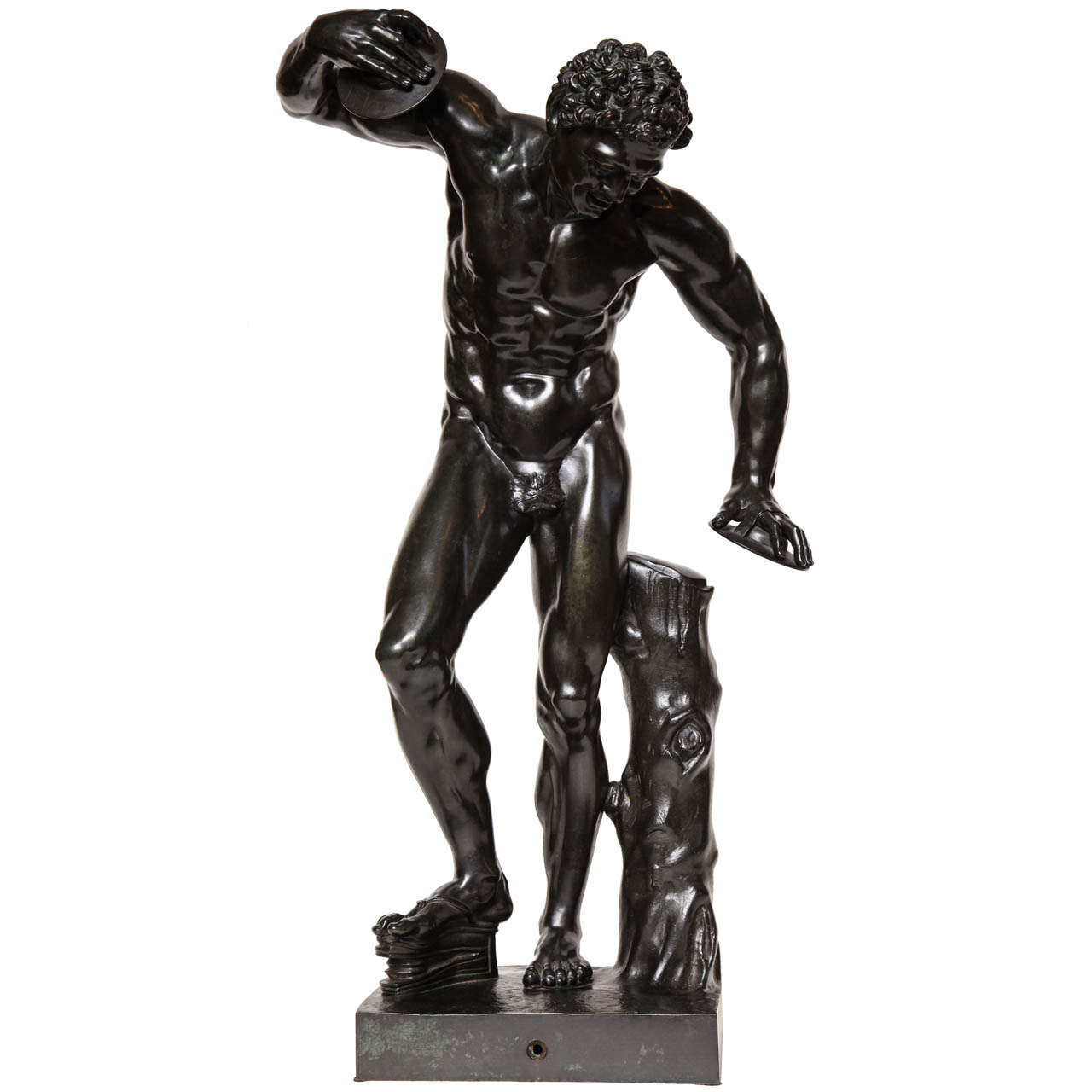 Superb 19th Century Bronze of the Dancing Faun After the Antique