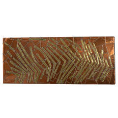 1969 Copper Panel Signed by Adalgari