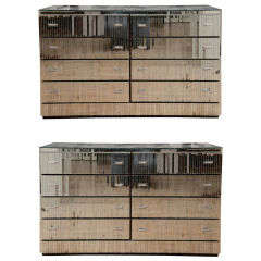 Pair Of Mirrored Chests Of Drawers
