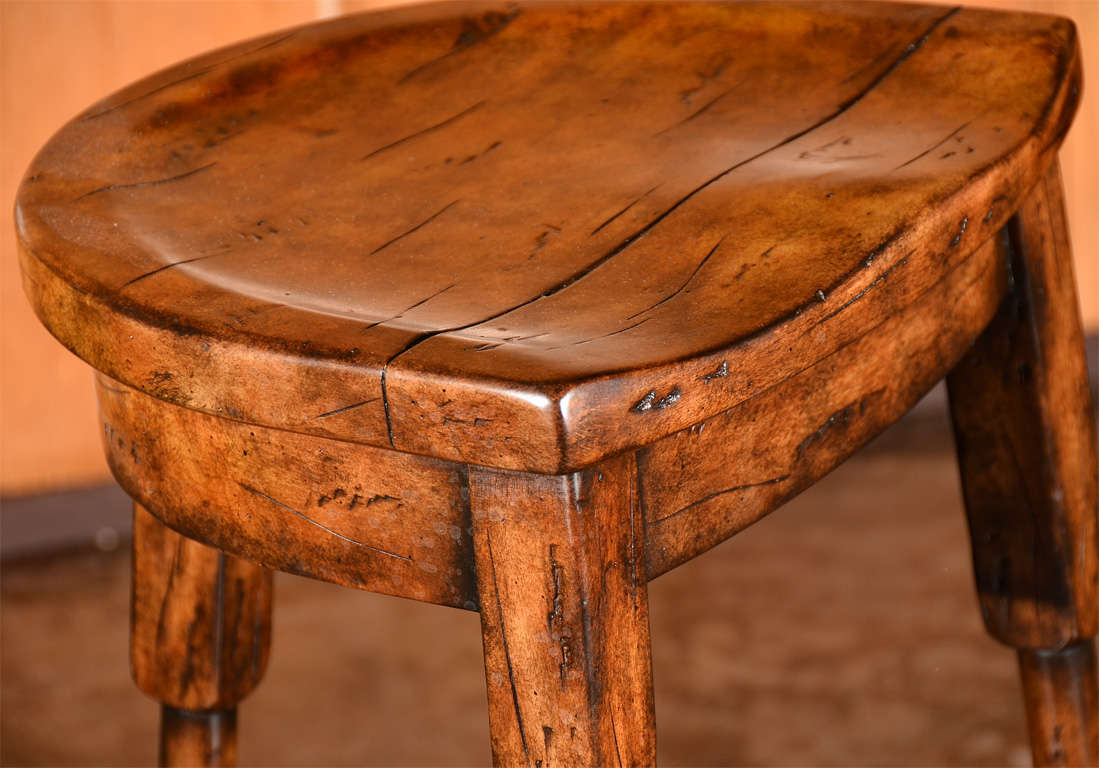 Wood Saddle Stool Saddle Seat Bar Stool At 1stdibs Home