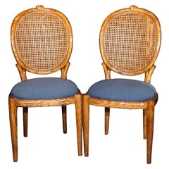 Pair of French Louis XIV Style Caned Side Chairs