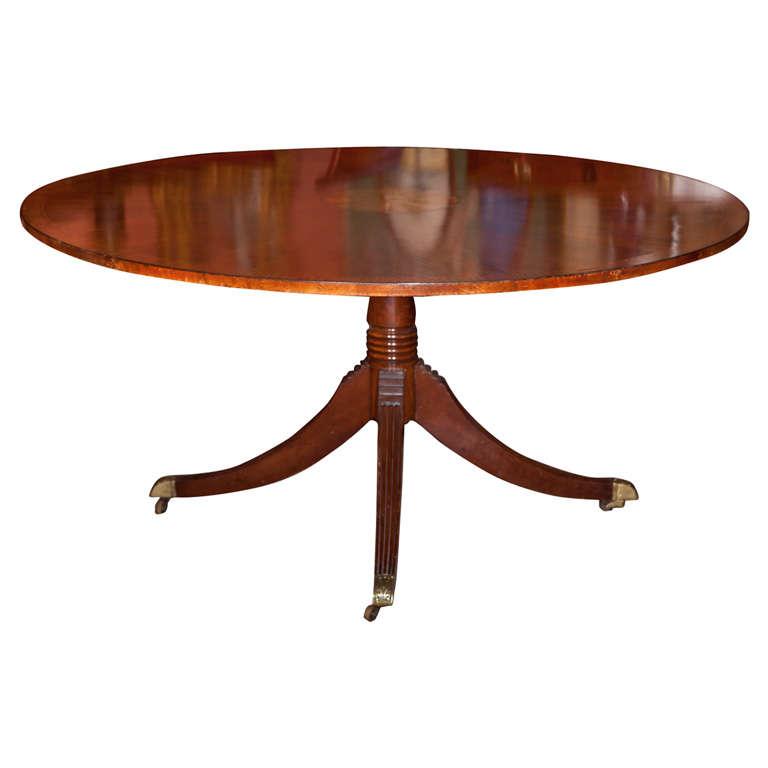 English Regency Style Mahogany Round Dining Table At 1stdibs