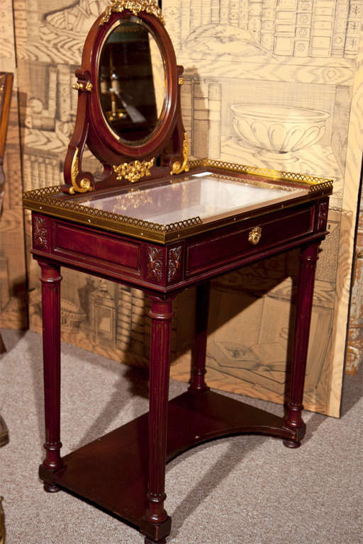 French louis xiv style vanity vitrine table for sale at for Table vitrine