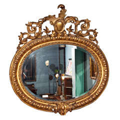 Palatial 19th Century French Gilded Mirror