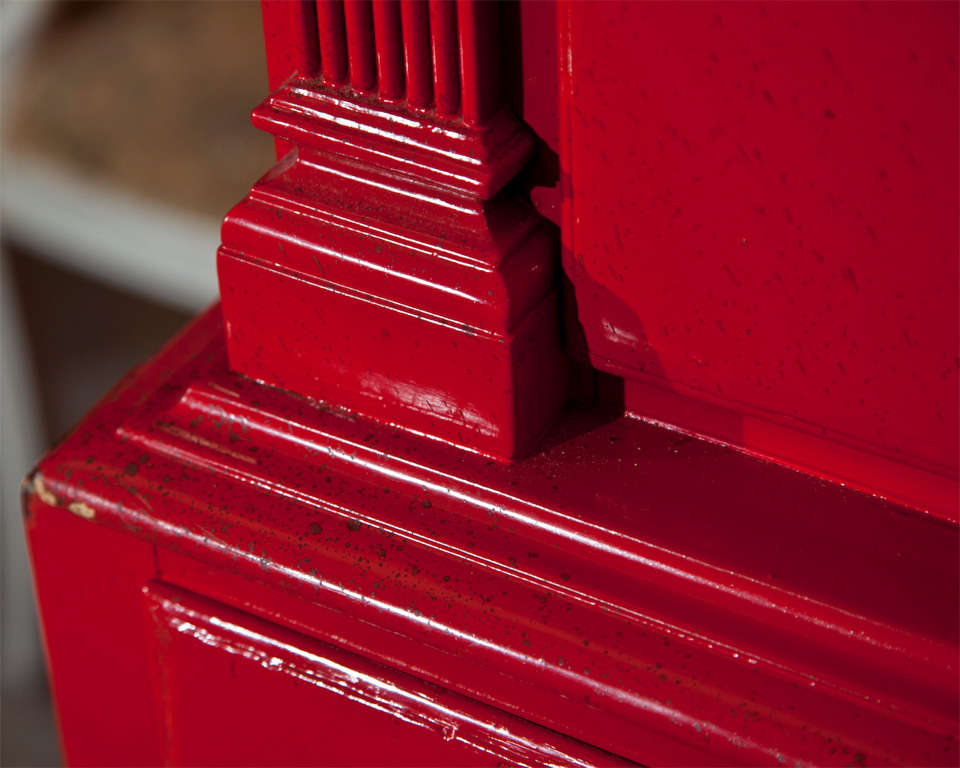 Red Painted English Georgian Style Highboy For Sale 5