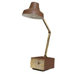 Mid-Century Alarm Clock Task Lamp by Tensor