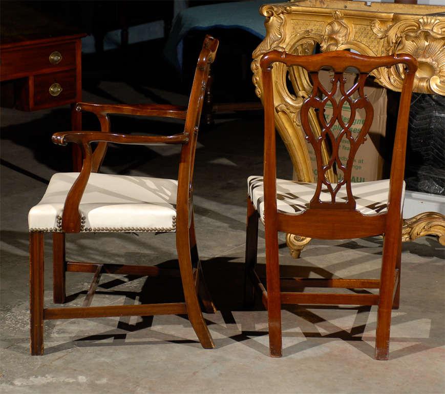 19thc georgian mahogany dining chairs set of eight at 1stdibs