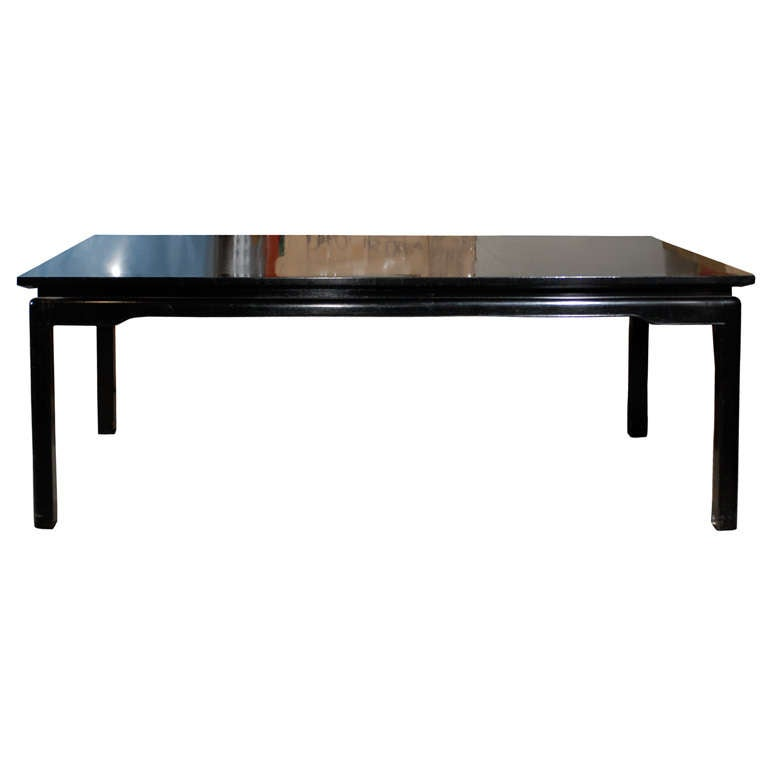Chinese Dining Table: Mid C Chinese Style Black Dining Table At 1stdibs