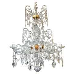 Chandelier Made by Real Fabrica de Cristales de La Granja, circa 1785